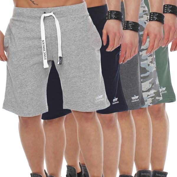 Finchman FM191 Herren Cotton Sweat Short Kurze Hose Bermuda Sweatpant