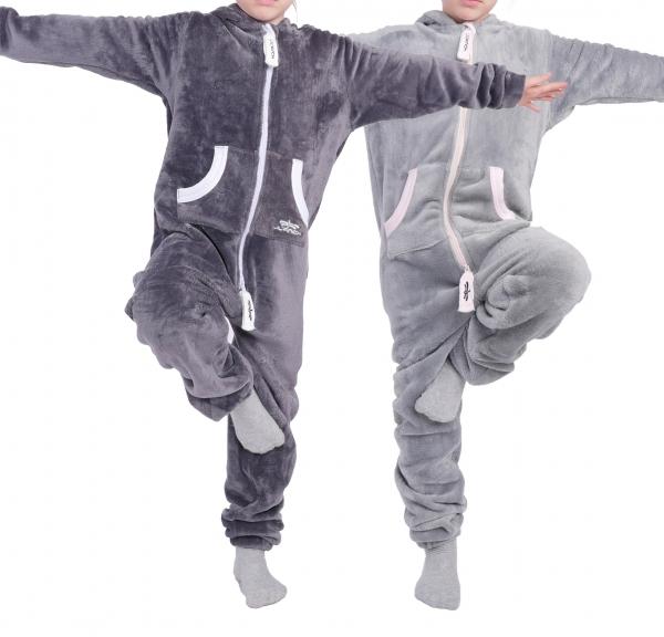 LIL'Finch Kinder Jumpsuit LIL'Teddy F2004 Jungen Mädchen Overall Teddy Fleece