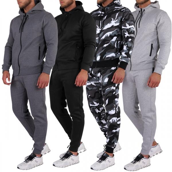 Basisstoff Basissuit Herren Jogging Anzug Trainingsanzug Sportanzug